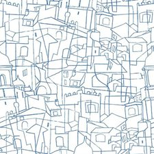 PSW1046RL Cubist Cityscape by York