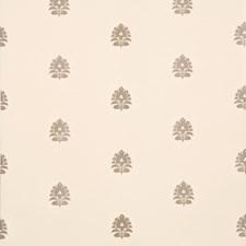 Linen/Silver Botanical Wallcovering by Baker Lifestyle Wallpaper