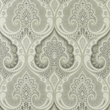 Dove/Charcoal Damask Wallcovering by Baker Lifestyle Wallpaper