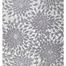 Silver Glitter On Lavender/Ash Gray/Pewter Metallic Flowers Wallcovering by York