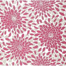 Silver Glitter On Fuchsia/Taupe/White Floral Medium Wallcovering by York