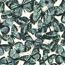 White/Blue/Navy Blue Animals Wallcovering by York
