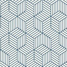 RMK11721WP Striped Hexagon by York