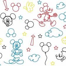 RMK11776RL Disney Mickey Mouse Line Art by York