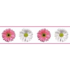 RMK4405BD Flower Power Peel and Stick Border by York
