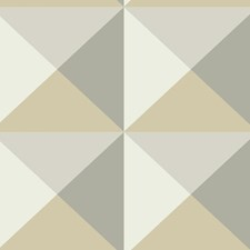 Beige/Gray/Off White Geometrics Wallcovering by York
