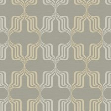 Brown/Iridescent Gold/Gray Geometrics Wallcovering by York