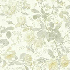 Pearlescent/Cream/Pale Yellow Botanical Wallcovering by York