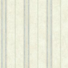 Cream/Blue/Tan Stripes Wallcovering by York