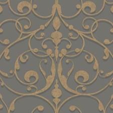 Medium Grey/Dark Grey/Gold Traditional Wallcovering by York