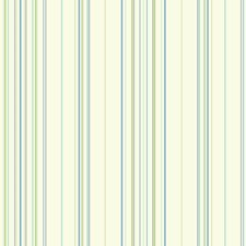 White/Bright Aqua/Bright Blue Stripes Wallcovering by York