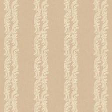 Warm Beige/Cream Stripes Wallcovering by York