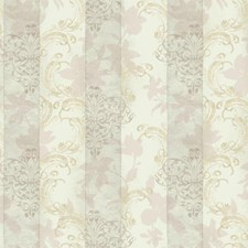Cream/Pale Pink/Grey Stripes Wallcovering by York