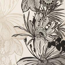 Ebony Botanical Wallcovering by Clarke & Clarke