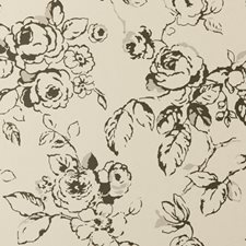 Charcoal Floral Large Wallcovering by Clarke & Clarke