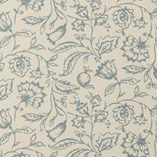 Wedgewood/Cream Floral Medium Wallcovering by Clarke & Clarke