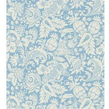 White/Light Blue Contemporary Wallcovering by Kravet Wallpaper