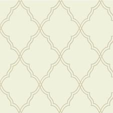 Beige/Ivory Lattice Wallcovering by Kravet Wallpaper