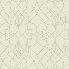 Ivory/Beige/Metallic Contemporary Wallcovering by Kravet Wallpaper