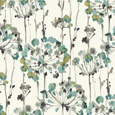 Light Blue/Grey/Gold Botanical Wallcovering by Kravet Wallpaper