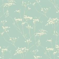 Light Blue/Ivory/Beige Contemporary Wallcovering by Kravet Wallpaper