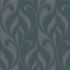 Blue/Grey Contemporary Wallcovering by Kravet Wallpaper