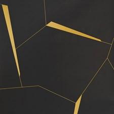 Black/Yellow Geometric Wallcovering by Kravet Wallpaper
