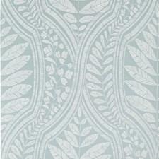 Teal/White Botanical Wallcovering by Kravet Wallpaper