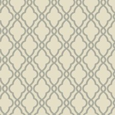 Palest Taupe/Steel Gray Geometrics Wallcovering by York