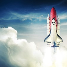 WALS0078 Shuttle Launch Wall Mural by Brewster