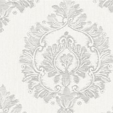 Harbor Grey Damask Wallcovering by Winfield Thybony
