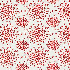 Red On White Wallcovering by Scalamandre Wallpaper