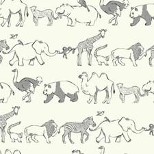White/Black/Grey Animals Wallcovering by York