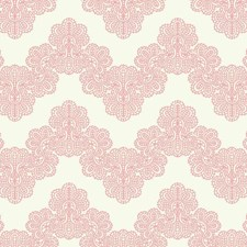 White/Pink Chevron Wallcovering by York
