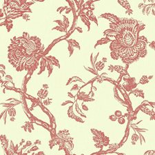 Cream/Red Bohemian Wallcovering by York