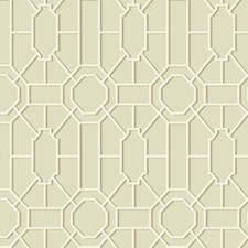 Tan/Cream/Brown Geometrics Wallcovering by York