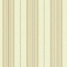 Cream/Taupe/Gold Stripes Wallcovering by York