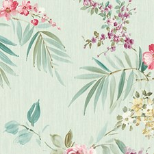 Turquoise/Pink Wallcovering by Scalamandre Wallpaper