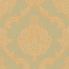 Taupe/Gold Damask Wallcovering by York