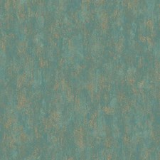Teal Blue/Gold Novelty Wallcovering by York