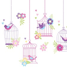 WPK0625 Chirping The Day Away Wall Art Kit by Brewster