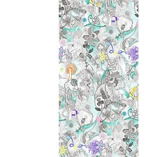 Turquoise Multi Wallcovering by Scalamandre Wallpaper