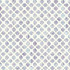White/Lavender Bohemian Wallcovering by York