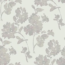 Off White/Metallic Pewter/Lilac Floral Wallcovering by York