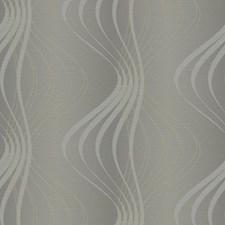Medium Grey/Light Grey/Silver Glitter Geometrics Wallcovering by York